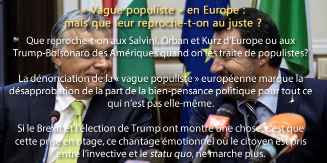 « Vague populiste » en Europe : mais que leur reproche-t-on au juste ?